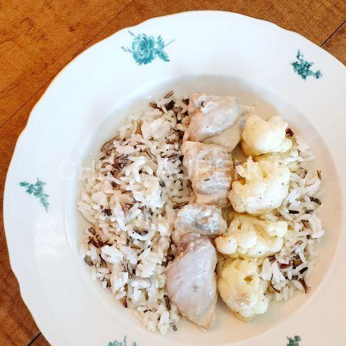 Poulet-Blumenkohl-Reis-Zitrone