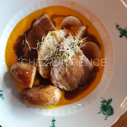 SchweinHals-KarottenPuree-Kartoffeln
