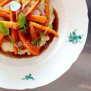 SchweinBraten-KartoffelnPuree-OfenKarotten