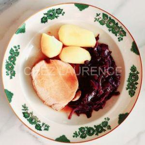 SchweinHals-Rotkohl-Kartoffeln