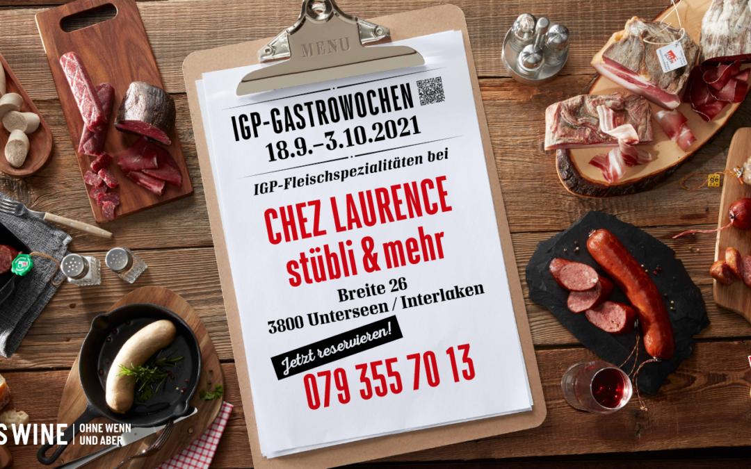 • IGP Gastrowochen • Mittags • 28.9-1.10 •